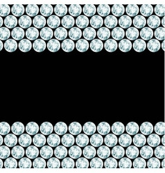 Black background with 2 diamond borders vector