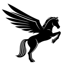 black pegasus sign vector image