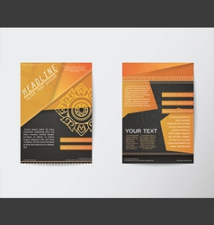 Brochure Flyer Thai style template in A4 size vector