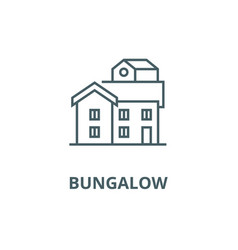 bungalow line icon bungalow outline sign vector image