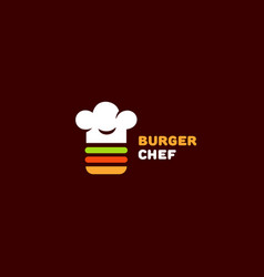 burger chef logo vector image