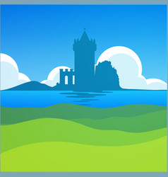 Castle in falkirk scotland - european scenic vector