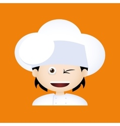 Chef Expression Face vector