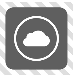 Cloud Rounded Square Button vector