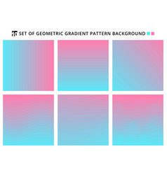 collection of abstract geometric gradients vector image