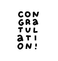 congratulations typography lettering decorative vector image