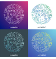 contact us concepts vector image