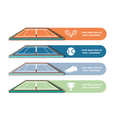 Courts of tennis sport vector