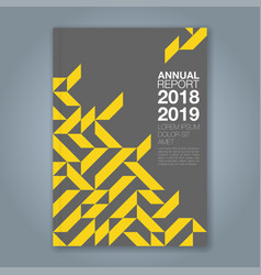 Cover annual report 857 vector