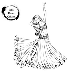 dance line belly dance vector image