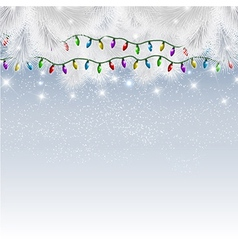 Decorative background with christmas tree branches vector