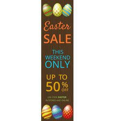 easter sale web banner vector image