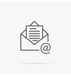 Envelope Open Design Flat vector image