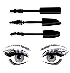 Eye mascara vector