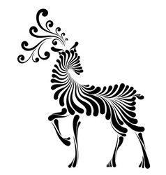 Fairy-tale graphic deer vector