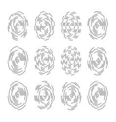 Fingerprint scan icons vector
