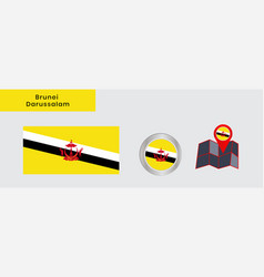 Flag brunei darussalam in official colors vector