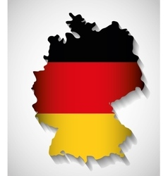 Flag map icon black red yellow Germany vector image