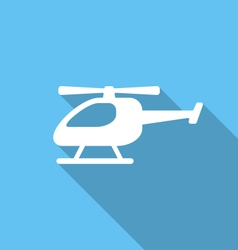 Flat icon helicopter vector