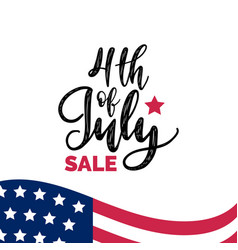Fourth july sale hand lettering vector