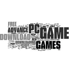 Free download advance pc game text background vector