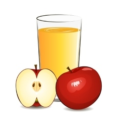 Fresh apple juice vector
