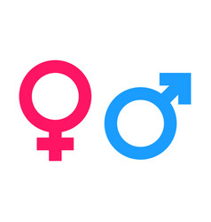 Gender sign icon men and women concept icon vector