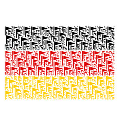 Germany flag pattern of triangle flag items vector