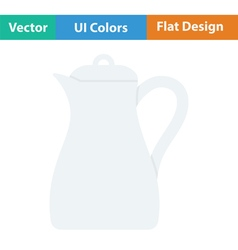 Glass jug icon vector image