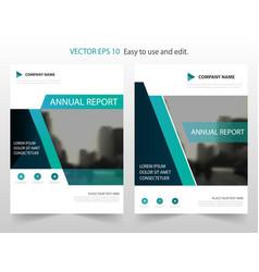 green annual report brochure flyer design vector image