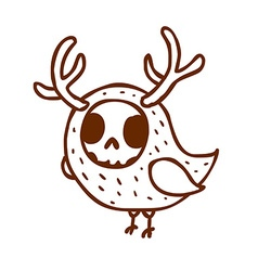 Hand Drawn Skeleton Disguised as a Bird vector image