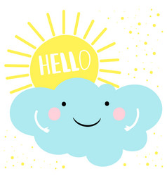 hello summer card template vector image