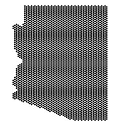 Hex tile arizona state map vector
