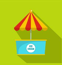 Ice creme icon flat style vector