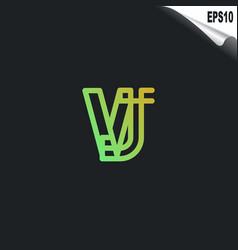 initial vj logo monogram design template simple vector image