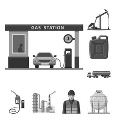 Isolated object of oil and gas icon set of oil vector