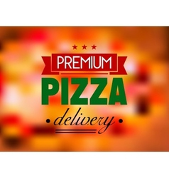 Italian pizza restaurant label or logo vector image
