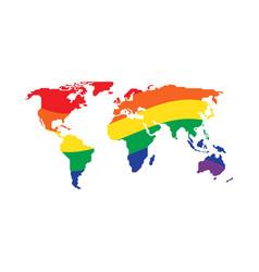 lgbt community symbol on world map flat design vector image