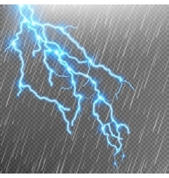 Lightning strike Rain template with flash EPS 10 vector image