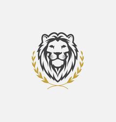 Lion logo icon head logo vector