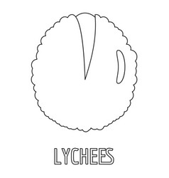Lychee icon outline style vector