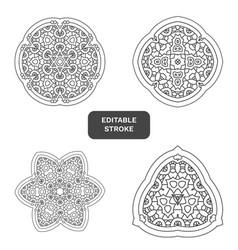 Mandala decor for your design lace ornament vector