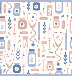 medical stuff pattern vector image