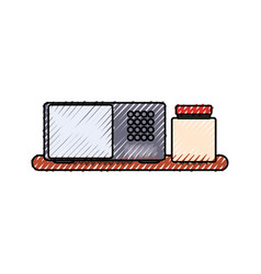 microwave and canning jar vector image