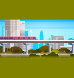 modern city skyscrapers view cityscape panorama vector image