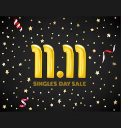 November 11 singles day sale concept vector