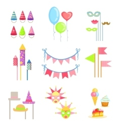 Party Decorations Set vector