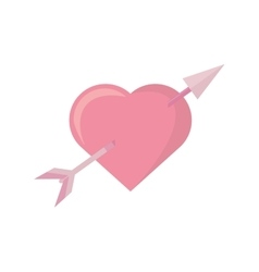 Pink heart arrow love symbol vector