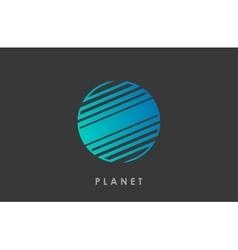 Planet logo deign line planet creative cosmic vector