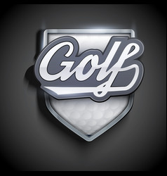 premium symbols of golf emblem vector image